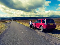Day trip to Hawes (Bryn Pinzgauer) Tags: durham dales freelander pennines landrover england summer hills yorkshire landscape view scenery