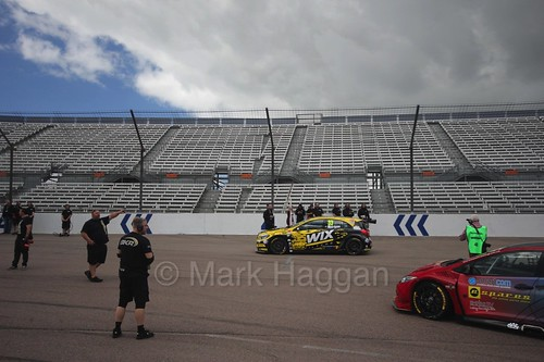 Adam Morgan on the grid at Rockingham, August 2016
