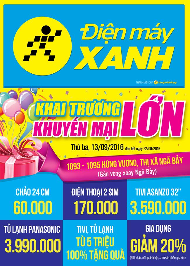 Khai trương siêu thị Điện máy XANH Ngã Bảy, Hậu Giang