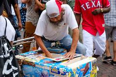 Paletero (-Dons) Tags: austin texas unitedstates tx usa paletero helado icecreamman cart 6thstreet sixthstreet man bull