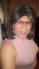 Pink dress (rachel_uk2004) Tags: stockings highheels crossdressing dresses transvestite crossdresser