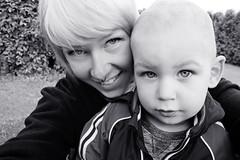 150609, Me and my nephew (nathalieisaksson89) Tags: portrait people blackandwhite selfportrait smile canon happy child teeth nephew selfie svartvit canoneos400d
