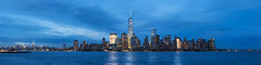 Midtown to the Financial District, blue hour. (dansshots) Tags: nyc blue panorama clouds 50mm nikon worldtradecenter financialdistrict hudsonriver empirestatebuilding wtc bluehour iloveny downtownnyc newyorkatnight thebigapple nycpanorama newyorkcitypanorama newyorkphotography nikond3 oneworldtrade dansshots