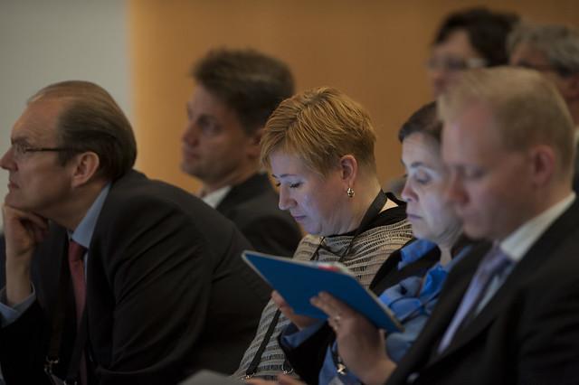 Attendees listening