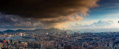 On a clear day (Keith Mulcahy) Tags: city sky clouds hongkong asia central clear mongkok hongkongisland victoriapeak victoriaharbour kowloonpeak feingoshan cloudsstormssunsetssunrises keithmulcahy blackcygnusphotography ppa7a0 ppd56c