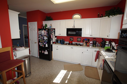 BEFORE  The 30 Inch Tall Wall Cabinets Leave A Large 2 Foot High Gap  Between Them ...