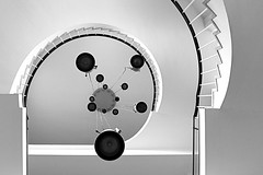 PhysicsLights web (dareangel_2000) Tags: dariacasement photography abstract codown northernireland spiral physics qub blackandwhite bw astral queensuniversity qubbelfast coantrim physicsbuilding spiralstaircase staircase stars astronomy shape circle line form bronze silver musictomyeyes