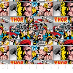 """(Camelot Cottons) Marvel Comic II, Thor In Multi • <a style=""""font-size:0.8em;"""" href=""""http://www.flickr.com/photos/132535894@N06/18578386460/"""" target=""""_blank"""">View on Flickr</a>"""