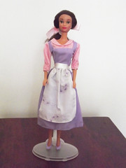Belle's peasant dress, second version (Syeoria) Tags: disney doll mattel peasant dress beauty beast belle