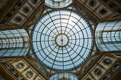 Glass dome of Galleria Vittorio Emanuele in Milan, Italy (tvrdypavel) Tags: old travel roof light italy milan building art window monument glass beautiful fashion architecture mall shopping gold store construction italian ancient europe gallery european artistic antique walk interior milano famous arcade decoration culture landmark it structure ceiling cupola dome vault transparent luxury lombardia luminous galleria lattice airy emanuele vittorio