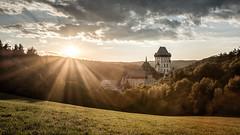 Karlstejn in Sunset (Ivan Zaruba) Tags: flickrunitedaward karltejn czech sunset castle