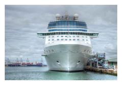 Now boarding at Gate 1 (oxfordwight) Tags: liner cruise southampton docks