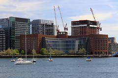 US District Court (oxfordblues84) Tags: sky building water boston architecture clouds buildings boats harbor boat construction crane massachusetts cranes constructioncranes cloudysky bostonharbor constructioncrane vertex bostonmassachusetts usdistrictcourt usdistrictcourtboston