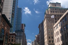 On 5th Avenue (Photographs By Wade) Tags: newyorkcity newyork manhattan 5thavenue tourbus buildings skyscrapers sky