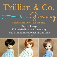 Instagram Giveaway! (AluminumDryad) Tags: instagram giveaway free contest prize dollclothes dolldress etsy anniversary littlefee yosd latiyellow pukifee jerryberry dal custom