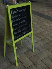 Lots Of Wurzen(s) (mkorsakov) Tags: dortmund city innenstadt markt wochenmarkt schild sign handschrift handwriting metzgerei butcher wurz