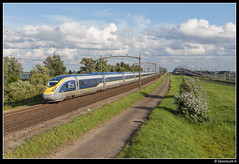 Eurostar 4013 + 4014 - 16539 (Spoorpunt.nl) Tags: eurostar 11 juli 4014 2016 e320 16539 4013 moerdijkbrug willemsdorp