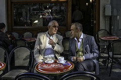 The Fine Art of Conversation (Steve Mitchell Gallery) Tags: people men talk converse conversation thefineartofconversation cafe coffee sidewalkcafe travel brussels belgium street eat drink dine restaurants