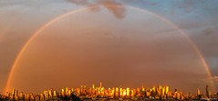 Golden Rainbow Over Manhattan (Digiart2001 | jason.kuffer) Tags: golden rainbow manhattan nyc newyorkcity hudson river sunset full double pano gothamist curbed sky clouds storm skyline buildings gold evening dusk wonder onceinalifetimeexperience explore