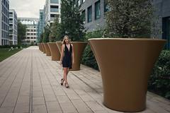 Urban Queen (karlhans) Tags: model urban fashion blond female beauty walk architecture modern toning