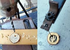 Cactus In Progress (BCooner) Tags: scrollsaw drill mesquite woodenjewelry shoholastar saguaro carving