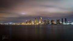 San Diego Skyline (josefrancisco.salgado) Tags: 2470mmf28g california d5 nikkor nikon sandiego sandiegobay usa unitedstatesofamerica baha bay evening longexposure night paisajeurbano skyline twilight exposicinlarga crepsculo