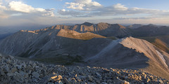 Mt. Antero Summit Panorama (Aaron Spong Fine Art) Tags: antero summit panorama pano sunset mt mount mountains sawatch range buena vista colorado 14ers 14er fourteeners