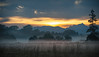 Time to get up (ReiFLexx) Tags: nikon d3 150mm sigma landscape sunrise mountains fog mist field morning