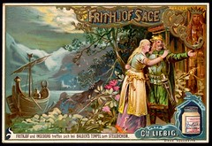 Liebig Tradecard S407 - The Legend of Frithjof 3 (cigcardpix) Tags: tradecards advertising ephemera vintage liebig chromo