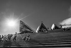 DSC01266 (Damir Govorcin Photography) Tags: sun sydney opera house people clouds sky zeiss 1635mm sony a7ii blackwhitephotos