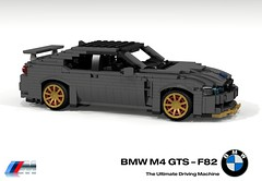 BMW M4 GTS (F82 - 2016) (lego911) Tags: bmw m4 gts 2016 coupe turbo auto car moc model miniland lego lego911 ldd render cad povray track racer 2010s lugnuts challenge 106 exclusiveedition limited special exclusive edition germany german sport