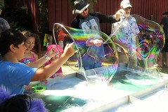 Bubble time fun (moonjazz) Tags: bubbles kids fun giant children play discovery experiment science soap rainbow color pop worldfest water summer festival smiles boys fantastic big photo
