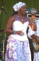 Brazilian Lead singer for Sambada (moonjazz) Tags: singer samba brazil latin music african sambada californiaworldfest vocalist joy dance sway festival performer beautiful woman power soul