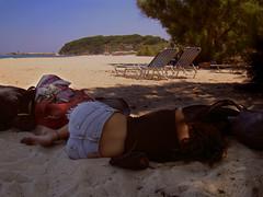 ,    ...   (egotoagrimi) Tags: messakti nocamping girl sleep panigiri august tourist friend beach    aegean greece