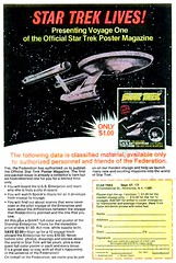 Star Trek Poster Magazine, 1977 ad (Tom Simpson) Tags: startrek ussenterprise space poster vintage television tv ad ads advertising advertisement vintagead vintageads comicbook 1977 1970s