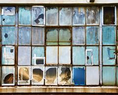 industrial windows (Sally E J Hunter) Tags: windows window leaside toronto industrial factory glass disrepair explore explored