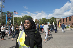 March organizer at a march against Islamophobia (Fibonacci Blue) Tags: minneapolis mpls twincities protest march minnesota trump islam muslim islamophobia republican protester organizer street somali demonstration dissent outcry outrage