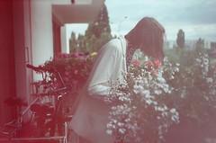75/365 (Adanethel) Tags: natural girl shorthair lightleaks light leaks colours colors analog film analogue zenit zenite fujifilm superia200 flowers world life memories melancholy delicate expired
