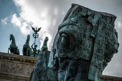 20 Horses at the Gate (Norte_it [Dario J Lagan]) Tags: horses sculpture berlin art anniversary wwii statues mexican gustavo 20 tor brandenburger quadriga aceves