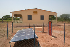 Karako maternity Hospital with solar panel in Mali