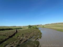 No Fishing (RootsRunDeep (Computer Down....)) Tags: water flood wyoming powderriver