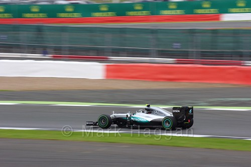 Nico Rosberg in Free Practice 3 at the 2016 British Grand Prix