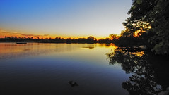 20160710 duffin creek (deltawhiskybravo) Tags: trees sunset sky creek wate duffin