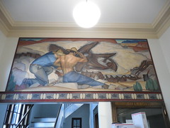 Kemmerer Wyoming Post Office Mural (jimmywayne) Tags: kemmerer wyoming postoffice mural newdeal historic lincolncounty nrhp nationalregister