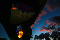 Tigard Ballon Festival Sunset (Mstraite) Tags: balloon night dark sunset clouds cotton candy flame fire hotair hot