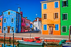Living in colors (BlindThirdEye) Tags: livingincolors burano venice italy wideangle streetphotography pastels travelphotography flickrtravelaward