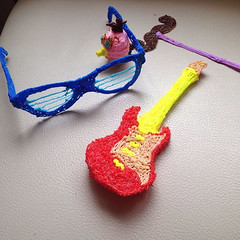 Your inner-90s kid is calling. He said he wants his hamburger phone back. (ilove3dpen) Tags: your inner90s kid is calling he said wants his hamburger phone back 3dpen 90skids 90s throwback guitar glasses frames