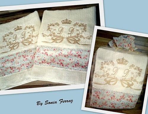 Jg toalhas bordadas.... #toalhasbordadas #toalhas #toalhaspersonalizadas #bordados #bordadospersonalizados #feitocomamor #bysoniaferraz