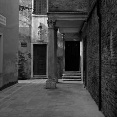 Venice (austin granger) Tags: venice italy doors evidence corner geometry light icon religion sidewalk square film austingranger gf670