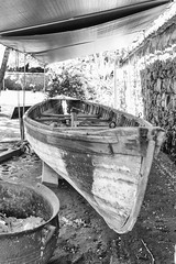 Whaling Boat (rschnaible) Tags: old bw usa white black outdoors photography hawaii boat us tour sightseeing monotone maui historic prison tropical whaling tropics touring lahaina